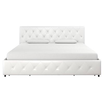 Three Posts Fareham Upholstered Storage Platform Bed Size King