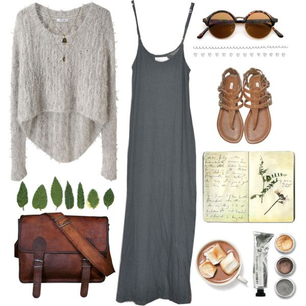 Sweater and maxi dress layers with combat boots