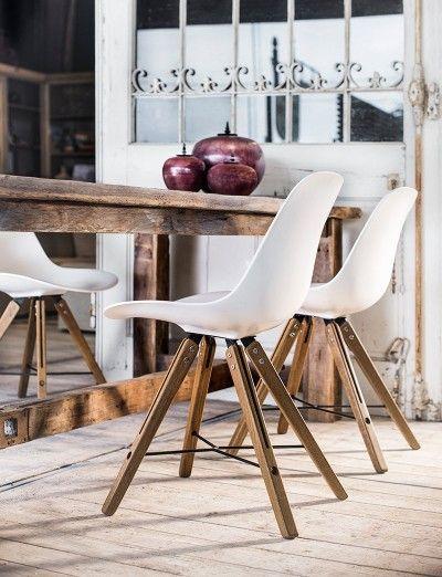 Massief eiken tafel op maat en design stoelen   Eetkamer   Pinterest ...