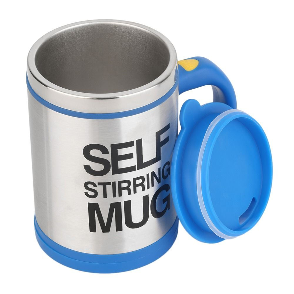 400ml Stainless Mixer Automatic Electric Self Stirring Mug Coffee Mixing Drinking Cup Skinny Moo Mixer Bluw Coffee Mixing Cup Mugs Coffee Mix Drinking Cup