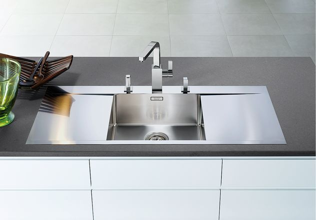 Built In Stainless Steel Sink With Drainer BLANCO FLOW 5 S IF By Blanco