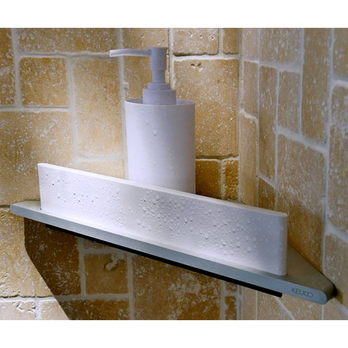 Keuco Edition 400 Corner Shower Shelf with Integrated