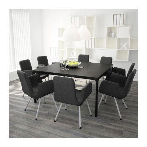 Konferenztisch Ikea konferenztisch bekant schwarzbraun schwarz office furniture