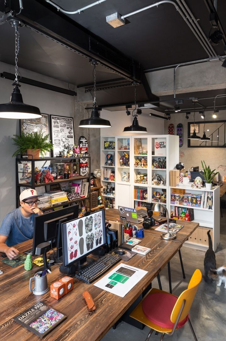 Creative workspace beautiful home office design inspiration creativeworkspace officedecor also amazing industrial interiors and furniture rh pinterest