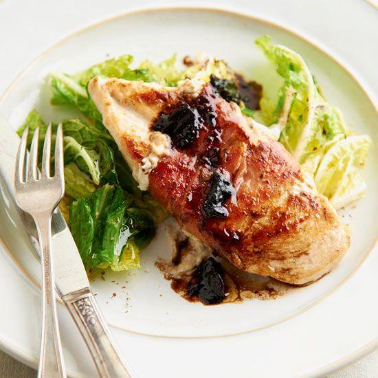 Pancetta-Wrapped Chicken with Glazed Date Sauce ~ Hmm...