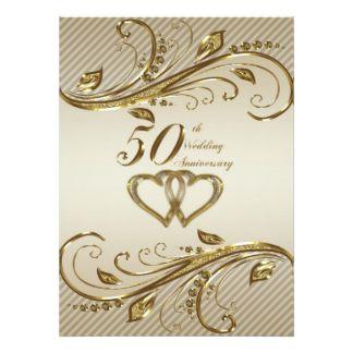 50th wedding anniversary invitation card 50th anniversary invites 50th anniversary invitations announcements stopboris Choice Image