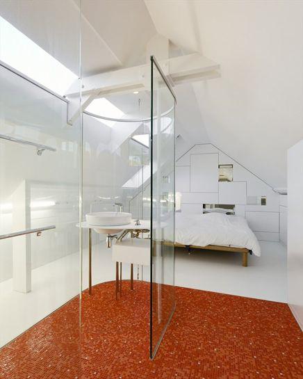 Attraktiv Minimalist Schlafzimmer Mit Badezimmer Aus Glas | Wohnideen Einrichten