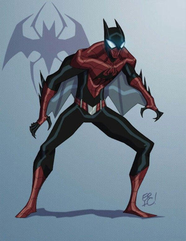 Batman Mixed With Spiderman Marvel And Dc Characters Marvel And Dc Superheroes Marvel Characters
