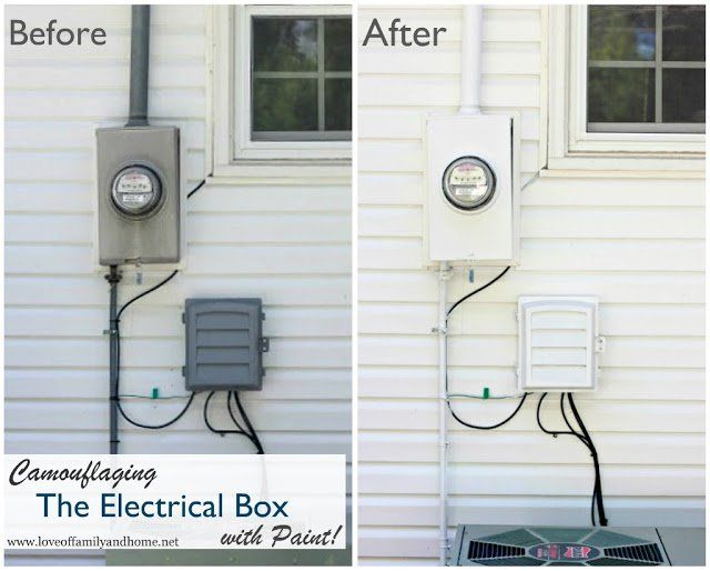 Camouflaging Electrical Box Collage | yard | Pinterest | Curb appeal ...