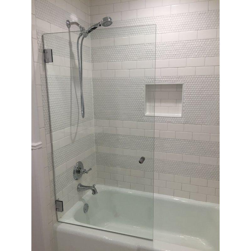 32 X 58 Hinged Frameless Shower Door Shower Doors Frameless