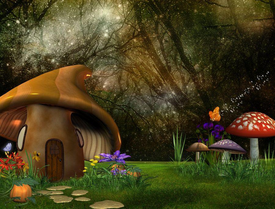 enchanted mushroom wallpaper - photo #14