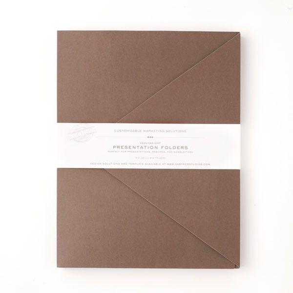 Brown Presentation Folders Gartner Studios PL System - resume folders