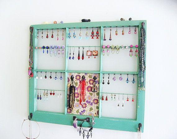 old windows jewelry organizer Old Windows Ideas Pinterest