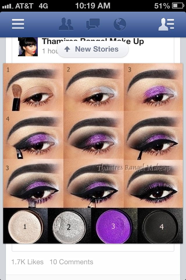 Purple And Black Smokey Eye Maquiagem Pinterest Black Smokey