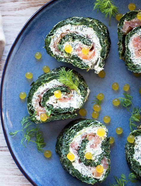 Lakseroulade med spinat - opskrift på lækker forret til gæster