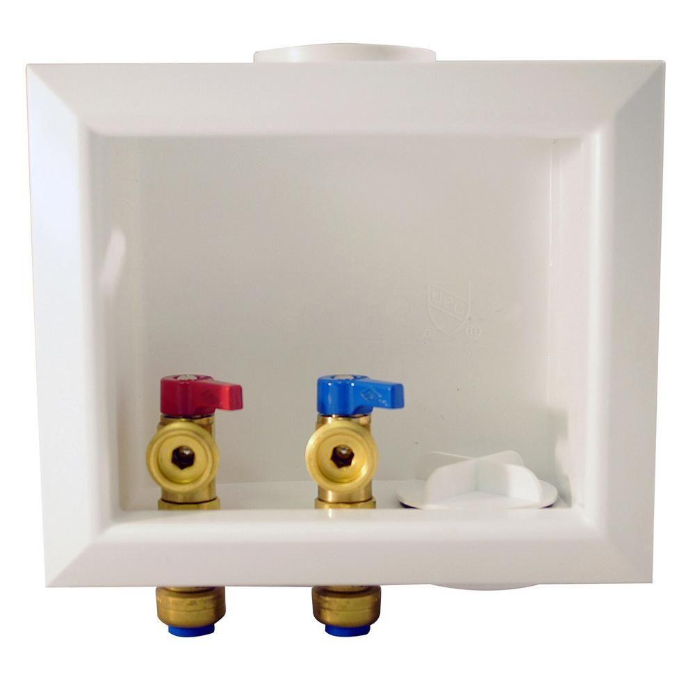 Tectite 1 2 In Brass Washing Machine Outlet Box Fsbboxwm Boxes