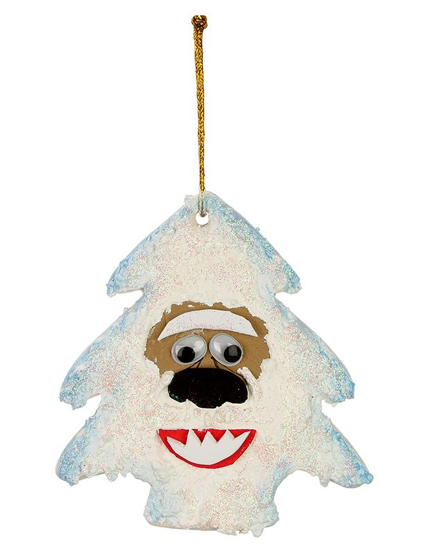 Nicole™ Crafts Abominable Snowman Ceramic Ornament #ornaments #craft