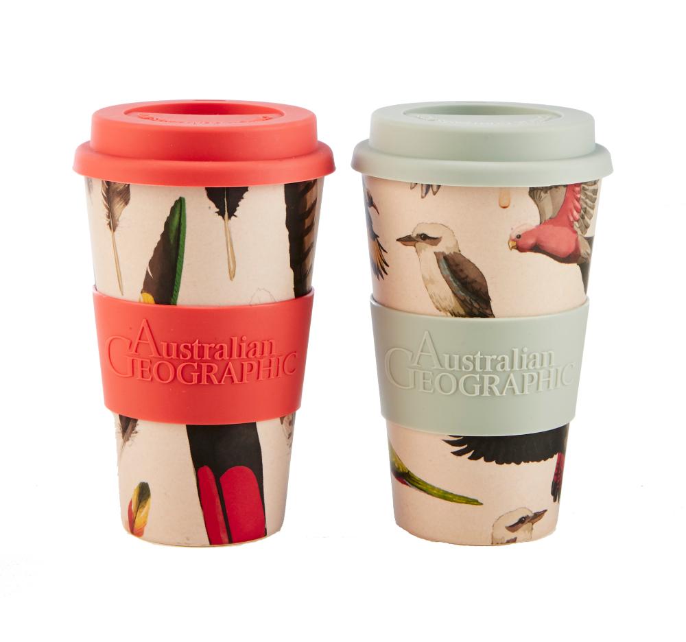 Coffee cup Set Australian Bird Designs Australian