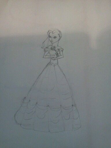 WIP of Belle for @Jesusandhobbits I'll have it inked and colored  tomorrow! :) (credit: Julia Napoli)