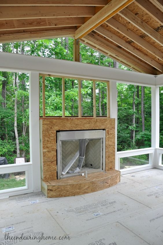 Turning Our Back Porch Dreaming Into A Reality Part 1 House With Porch Porch Design Small Covered Patio