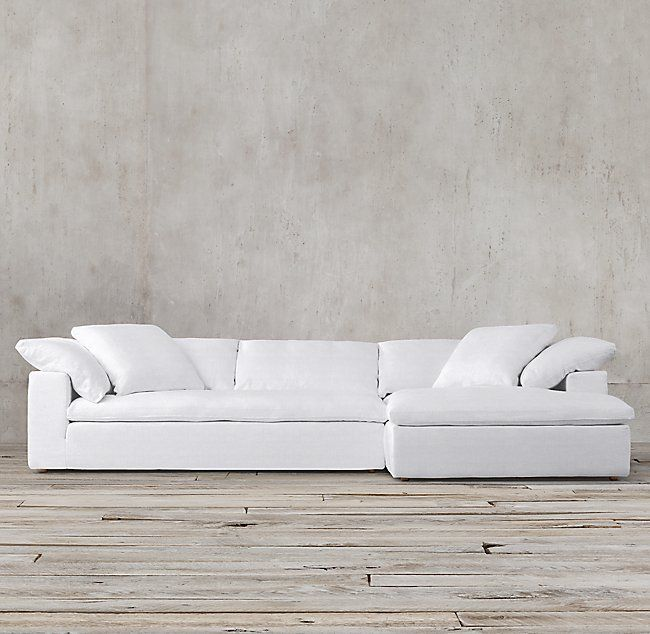 Preconfigured Cloud Track Arm Slipcovered Right Arm Chaise Sectional Sofa Colors Sectional Restoration Hardware Cloud