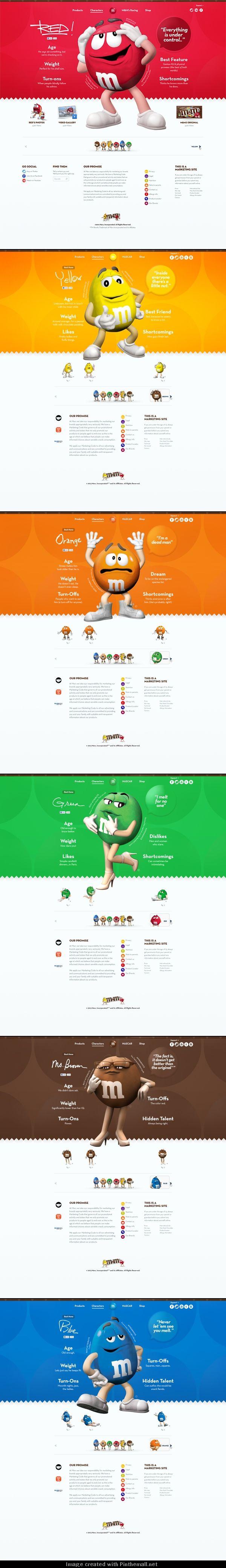 Cool Web Design on the Internet, M&M. #webdesign #webdevelopment #website