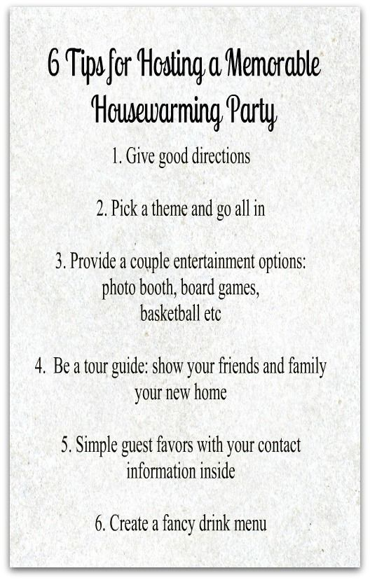 6 tips for hosting a memorable housewarming party for Housewarming party food menu