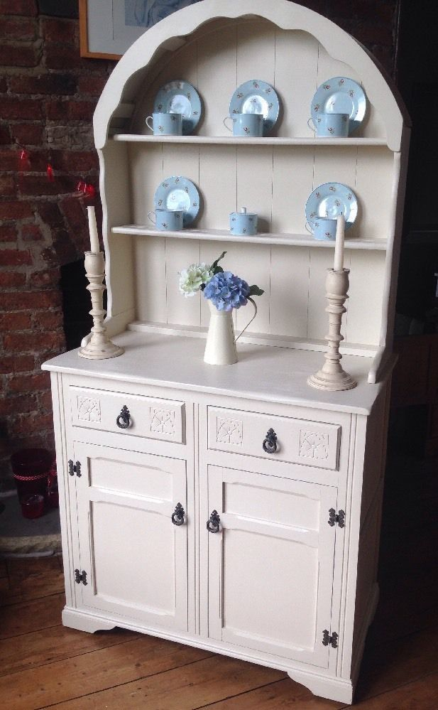 Stunning Vintage Shabby Chic Painted Dutch    Welsh Dresser F  U0026 B Joa U0026 39 S White