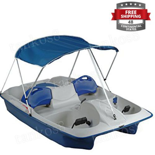 Folding-Canopy-for-2-pole-Boat-Two-Bow-Aluminum-Frame-UV-Protection ...
