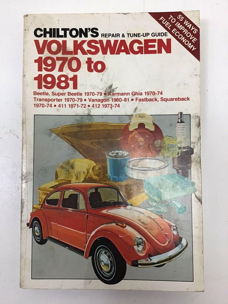 Chilton S Volkswagen 1970 1981 Repair Tune Up Guide Manual 6837 Bug And More Chilton Volkswagen Repair