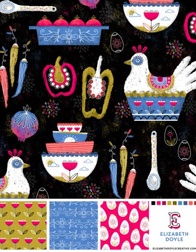 Elizabeth Doyle aka Lizzy Dee is a designer, illustrator, and author from New Jerseyprint & pattern