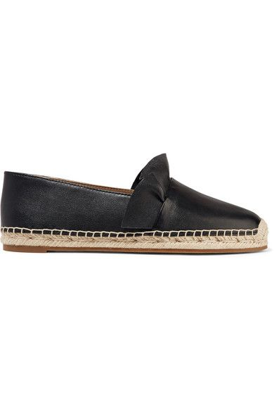 Michael Kors Collection - Laticia Ruffled Leather Espadrilles - Black - IT