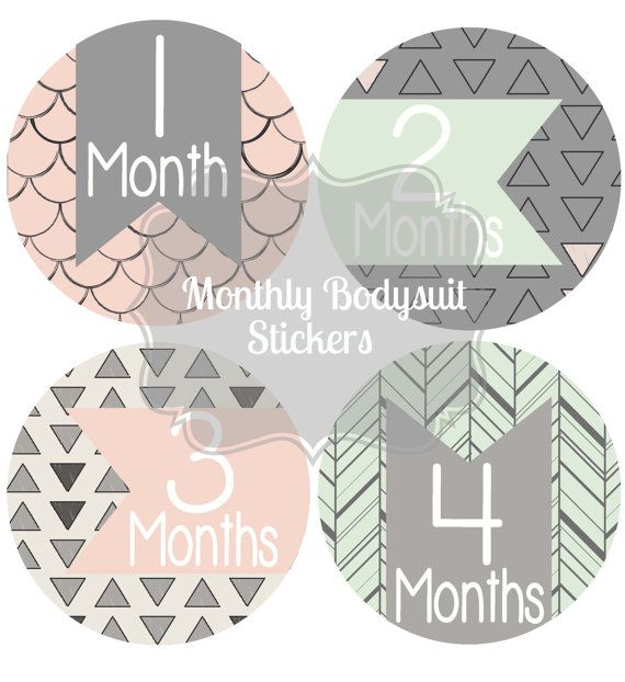 Light as a Feather Monthly Baby Photo Stickers are the perfect way to document and cherish your babys first year of life through pictures. It