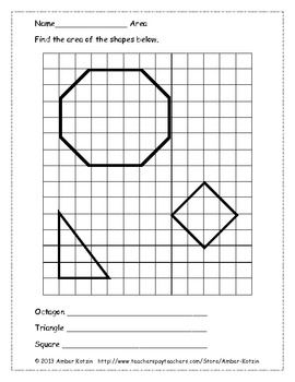 Area of Shapes Using Whole and Half Units (Common Core