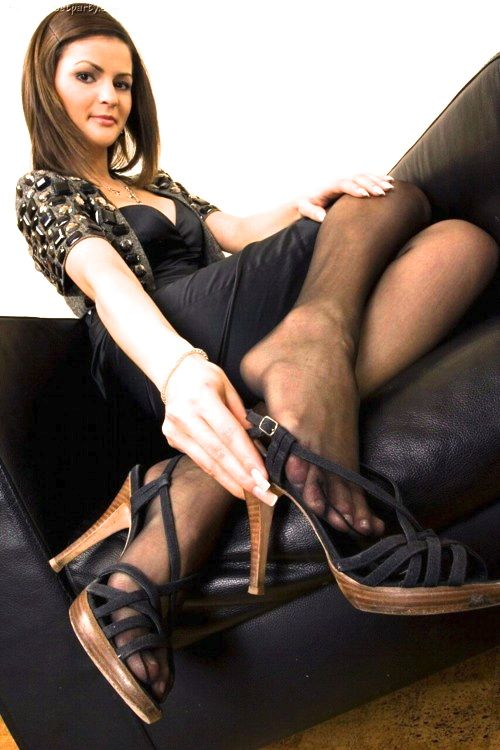 Pin on fetish nylon feet heels