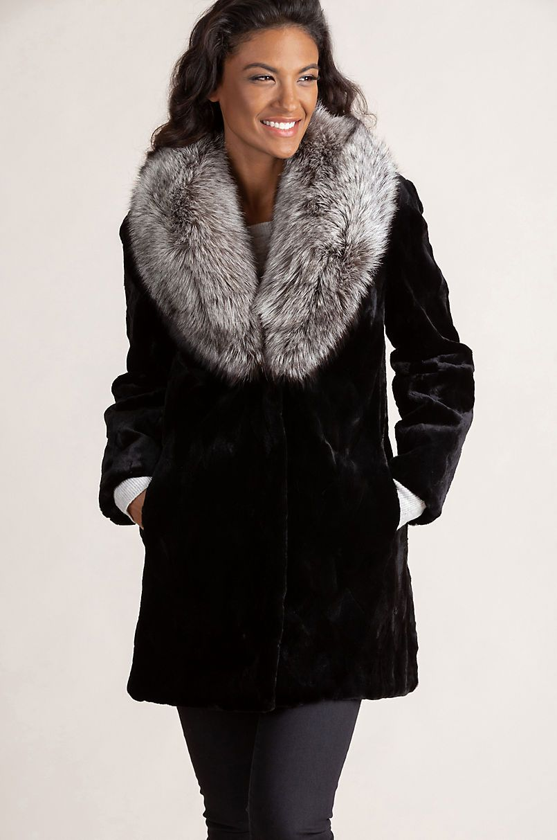 534e56ce7fd Diana Danish Mink Fur Jacket with Silver Fox Fur Collar in 2019 ...