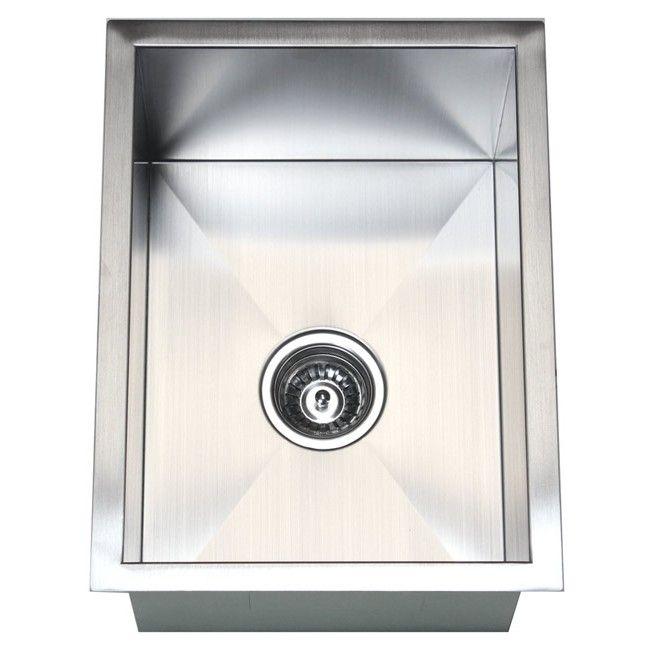 15 Inch Stainless Steel Undermount Single Bowl Kitchen ...