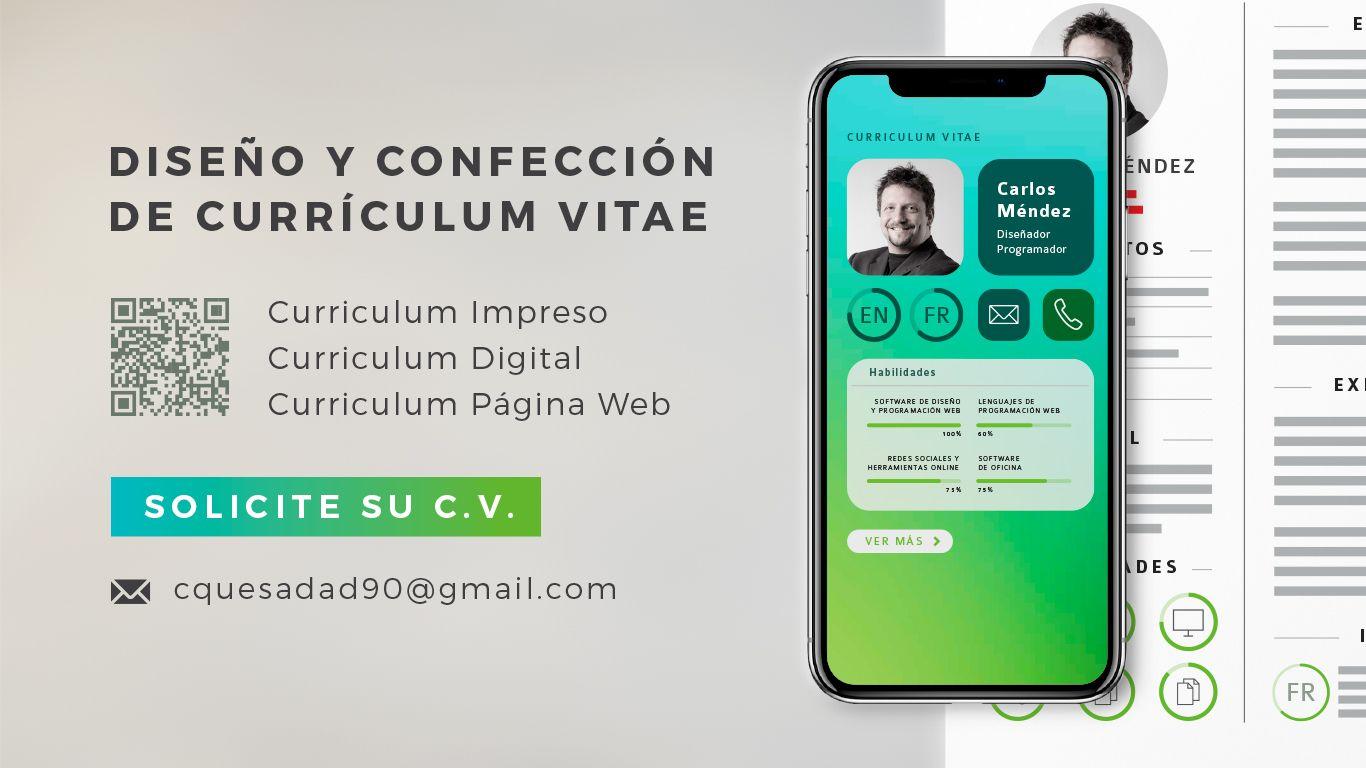 Promoción digital e impresa para vender Currículum Vitae ...