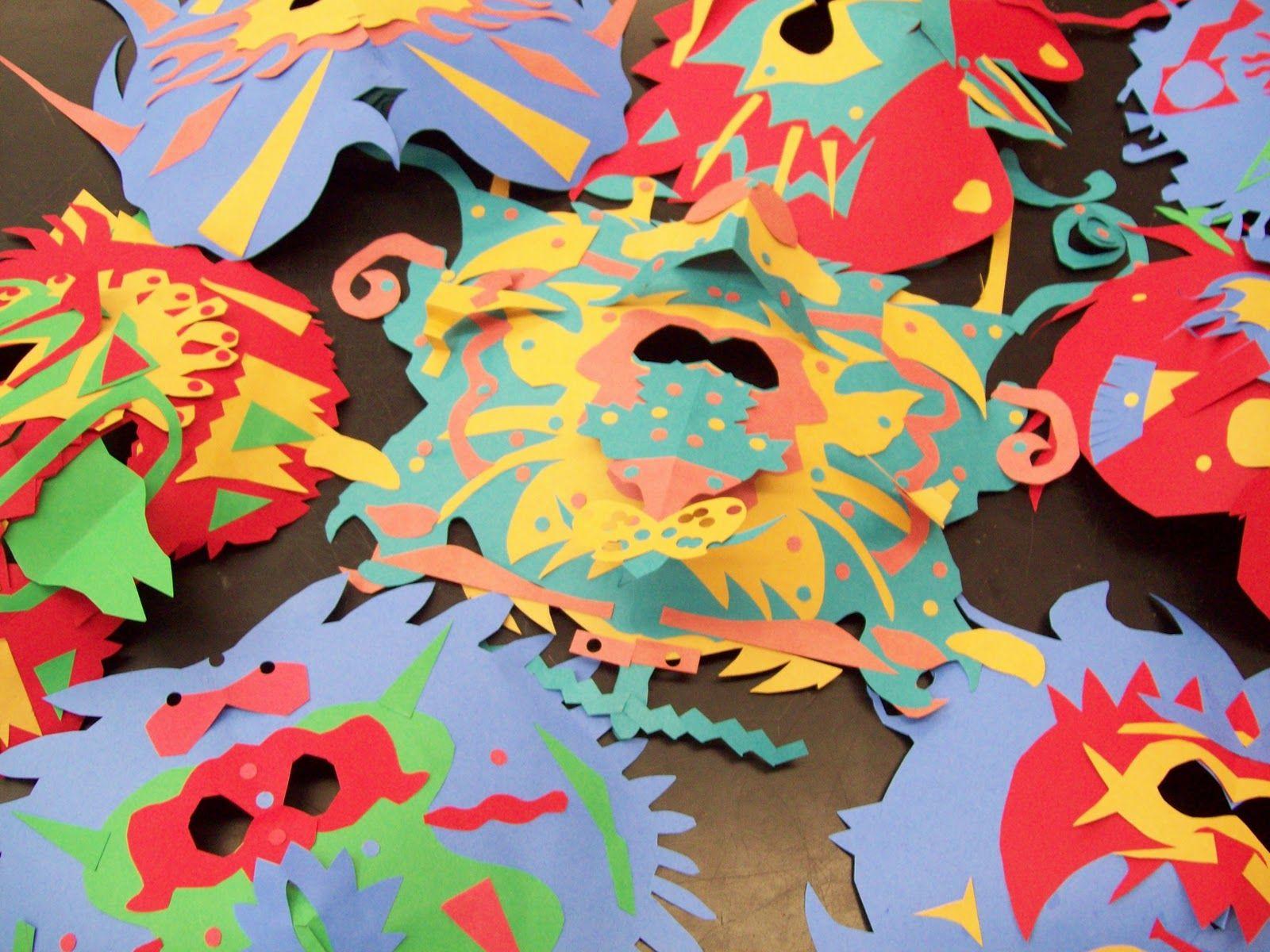 Construction Paper Masks Grade 7