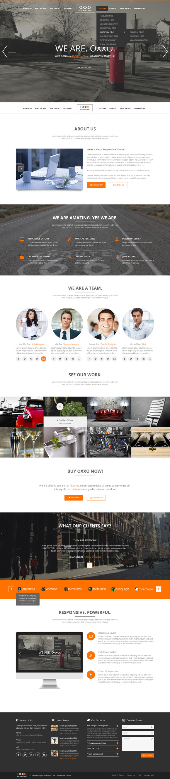 Free download (this Week Only): Oxxo Multipurpose PSD Template on Creative Market