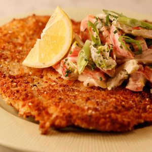 Everything Chicken Schnitzel and Ranch-Style Creamy Veggies | Rachael Ray Show. THE CHICKEN SOUNDS AMAZING!!!  Not sure about the veggies.