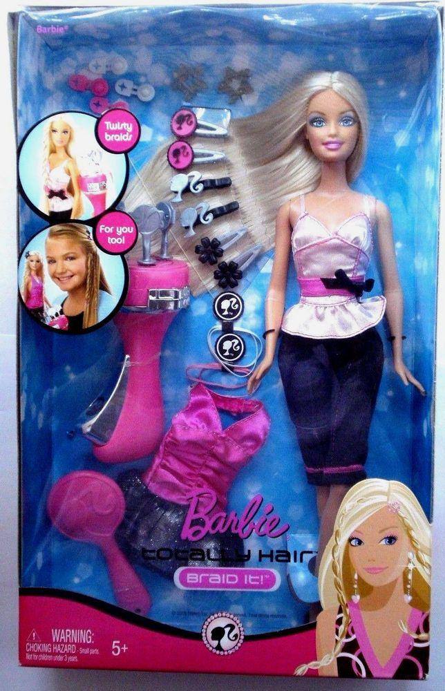 Totally Hair Braid It 2008 Barbie Doll Unopened Nrfb Barbie Dolls Barbie Dolls For Sale Barbie