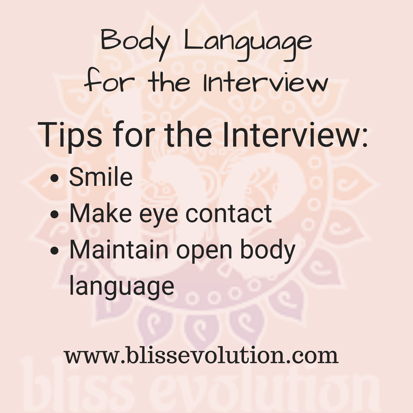 Body Language For The Interview