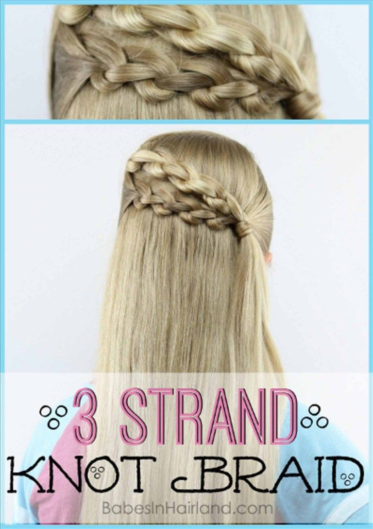 3 Strand Knot Braid Hairstyle | Is it a Braid or is it Knots?