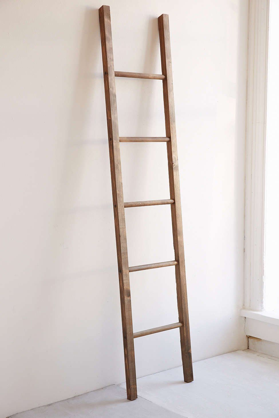 foot rustic wood round rung farmhouse country chic ladder x