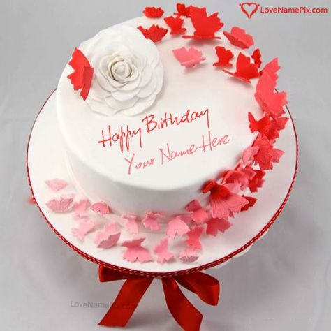 Birthday Cake Online Editing Option With Name Photo Happy Birthday