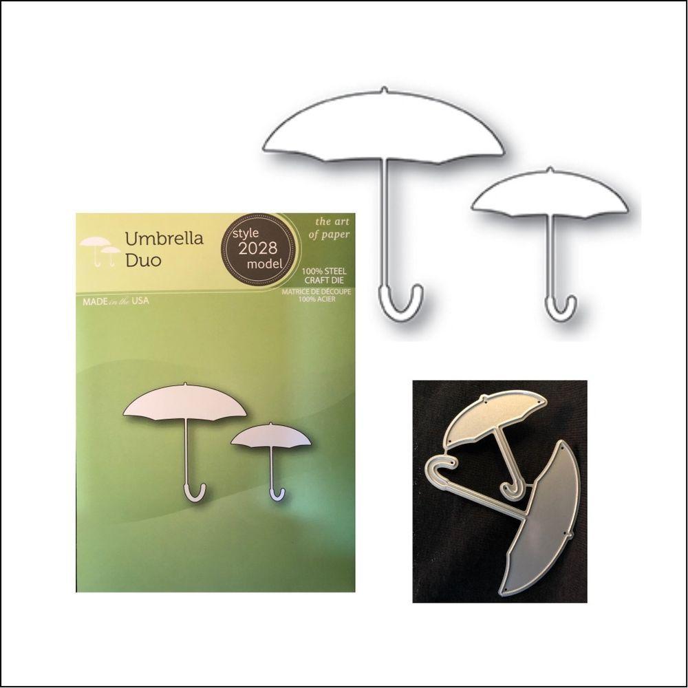 Poppystamps metal dies Umbrella Duo cutting Die