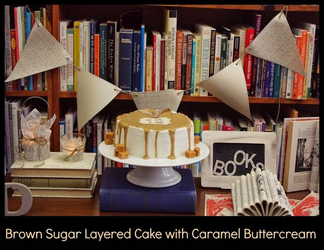 brown sugar layer cake with caramel buttercream