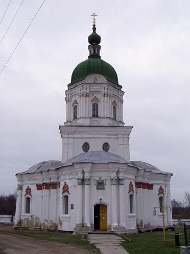 """village Dikanka. Trinity Church (XVII century.). It is believed that it was her in the """"Night Before Christmas"""" painted Vakula."""