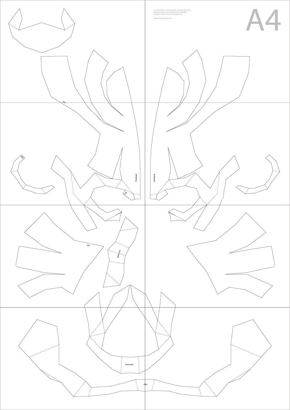 Express: Halloween DIY Cardboard Skull Display Props (PDF template ...